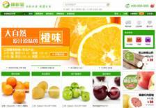 绿色大气果蔬商城网站